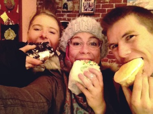 Voodoo Donuts nom with Mat and Jessy.