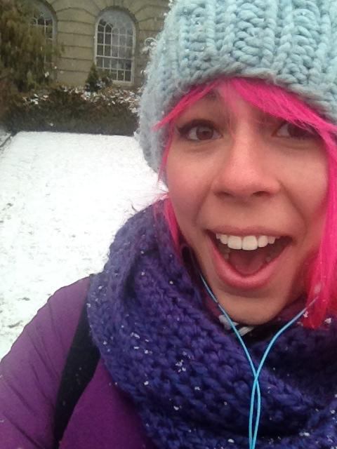 """Obligatory """"OMG SNOW"""" selfie."""