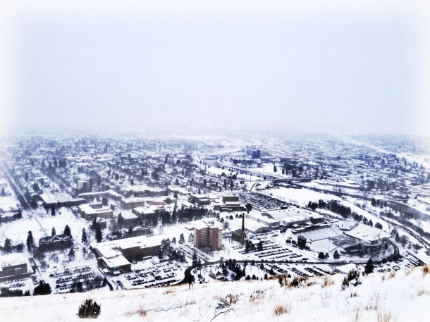The view from Mt. Sentinel in Missoula.