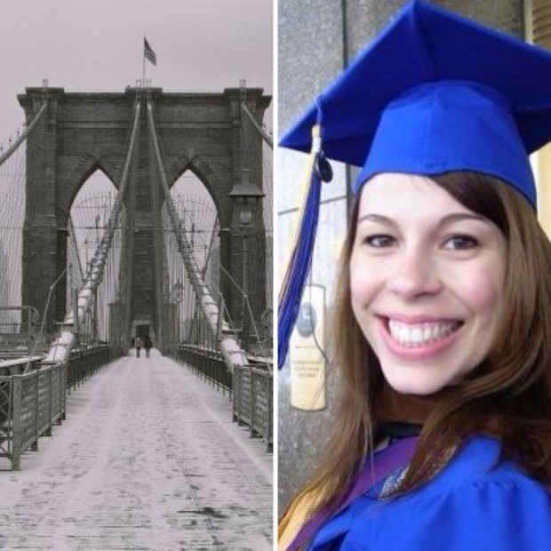 The Brooklyn Bridge and my graduation from Pace University 2009