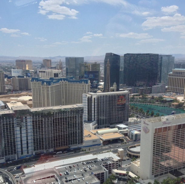 The view from The High Roller