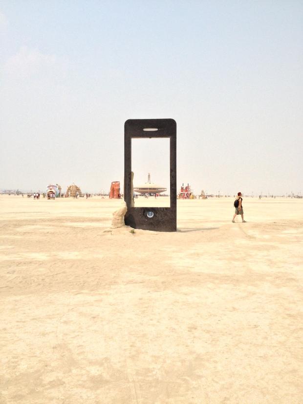 iPhone at Burning Man