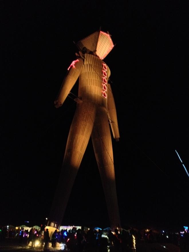 The Man at night