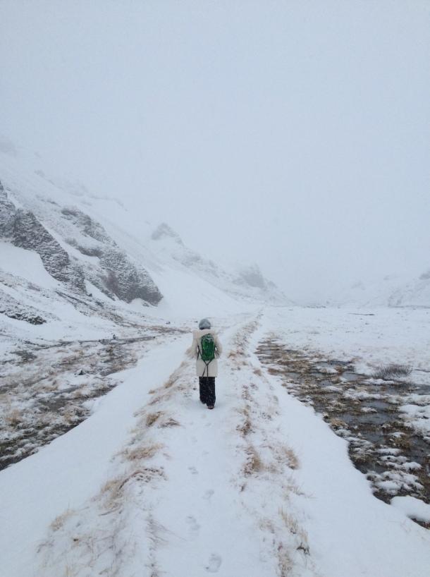 Hiking to Seljavallalaug