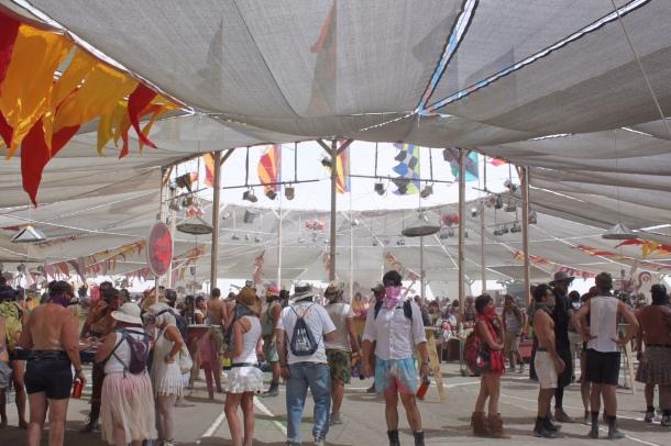 Center Camp at Burning Man