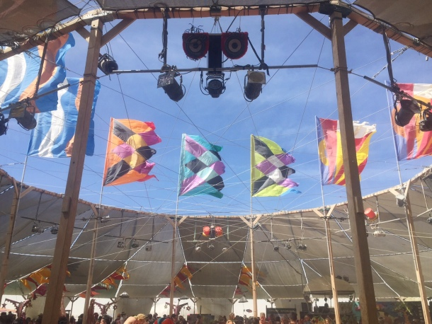 Center Camp flags