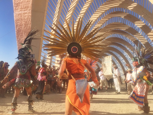 Mexican ceremony at the Temple of Promise