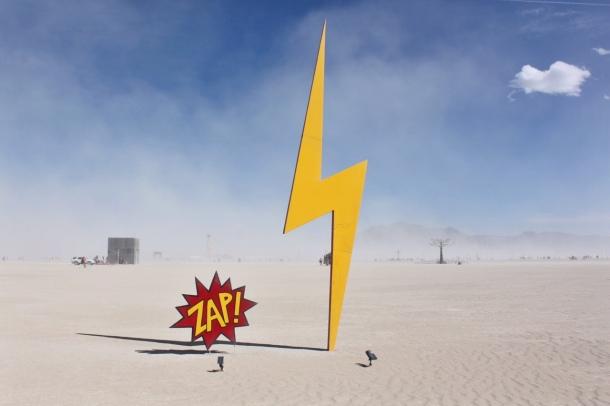 Burning Man zap