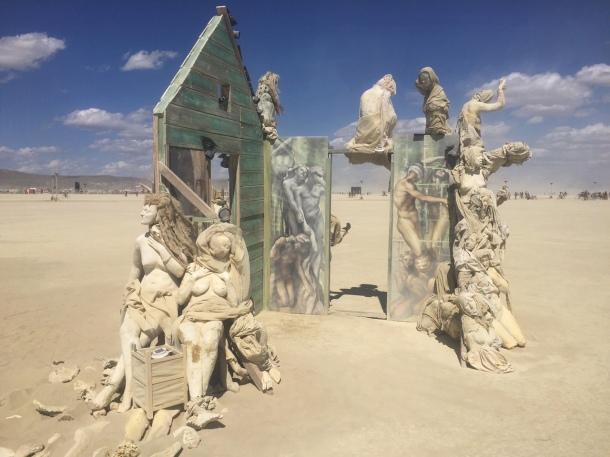 Creepy art at Burning Man