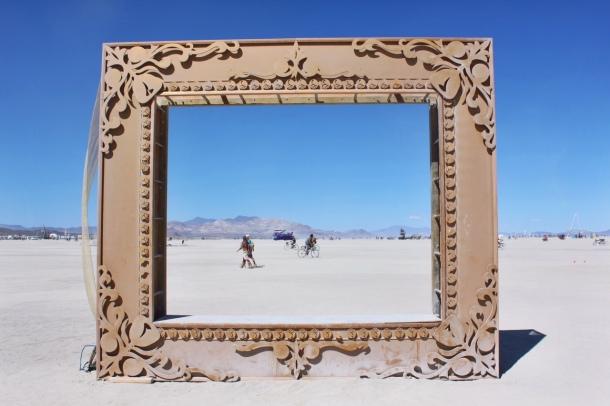 Burning Man photo frame