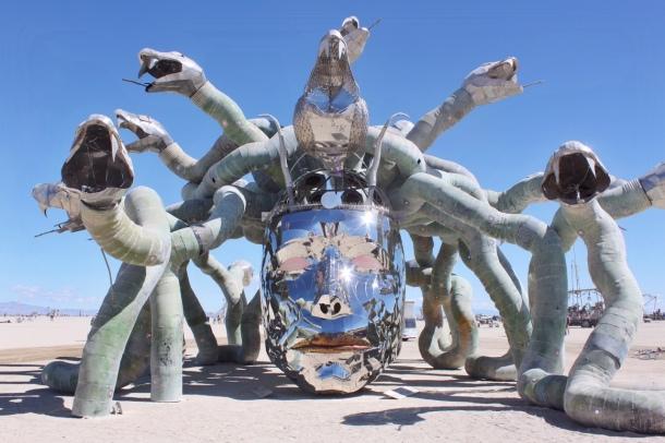 Burning Man Medusa Madness