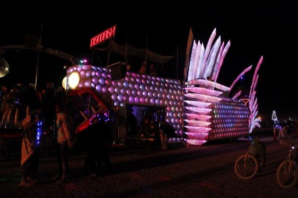 Discofish at Burning Man