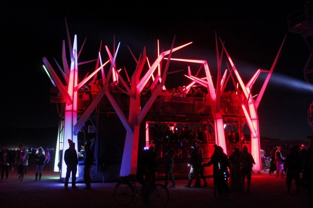Forest House art car at Burning Man